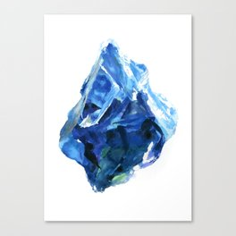 Raw Sapphire Canvas Print