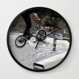 """Getting Air"" - BMX Rider Wall Clock"