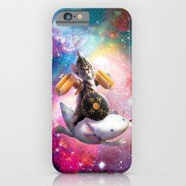 Warrior Space Cat Riding Axolotl - Hotdog iPhone Case