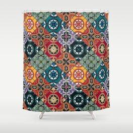 DESEO BOLD spanish tiles Shower Curtain