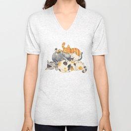 Cat Nap (Siesta Time) Unisex V-Neck