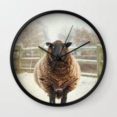 Zombie sheep Wall Clock