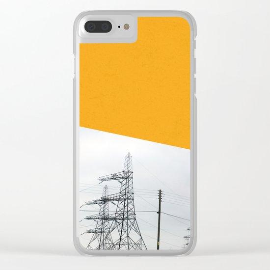 Orange Pylons Clear iPhone Case