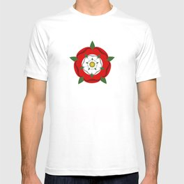 Tudor dynasty rose flag united kingdom great britain T-shirt