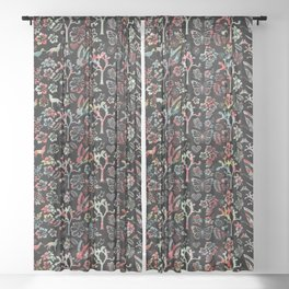 Joshua Tree Tropical by CREYES Sheer Curtain