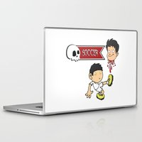 soccer Laptop & iPad Skins featuring Soccer Skull by flydesign