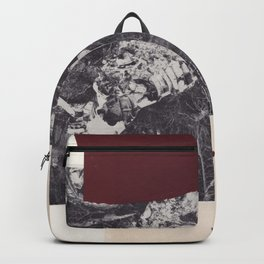 Collage vintage abstract chine-colle black and white photography Backpack