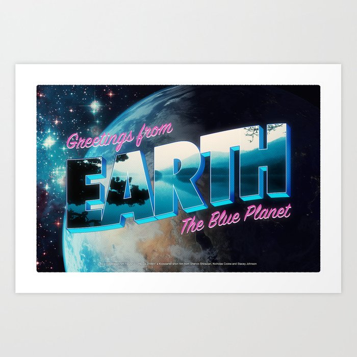 Greetings from Earth, The Blue Planet Art Print