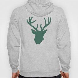 Deer Head: Green Hoody