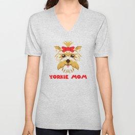 Yorkie Mom product I Cute Gift for Women Unisex V-Neck