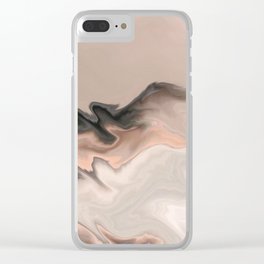 Marble Dream: a digital dreamscape Clear iPhone Case