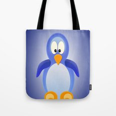 Penguin Purple Tote Bag