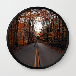 Orange Trees & Backroad Dreams Wall Clock
