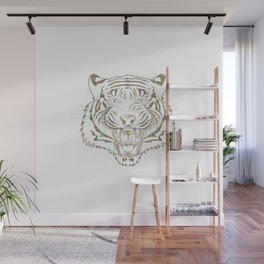 Psychedelic Colorful Tiger Wall Mural