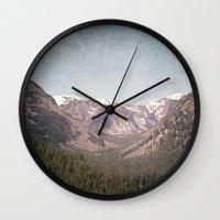 montana Wall Clocks featuring Montana Blues by CMcDonald