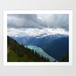 Whistler trails Art Print