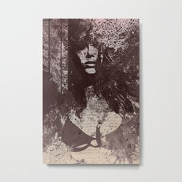 Degradation Trip I (graffiti sexy female picture) Metal Print