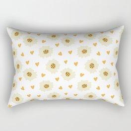 Fashion Lovely Flower Pattern Art Rectangular Pillow