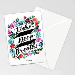 Take Deep Breaths Stationery Cards