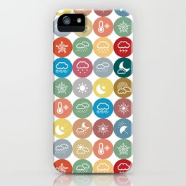 Weather symbol iPhone Case