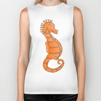 seahorse Biker Tanks featuring Seahorse by mailboxdisco