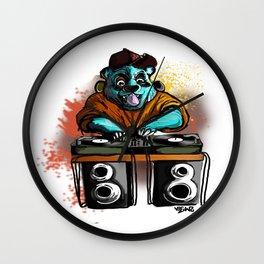 dj panda Wall Clock