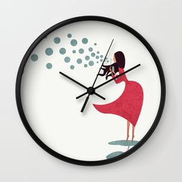 I'm bubbling. That state of absolute happiness when you are ready to fly. Wall Clock