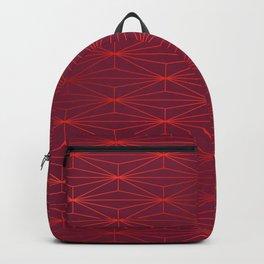 ELEGANT BEED RED TANGERINE PATTERN v3 Backpack