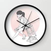 pinup Wall Clocks featuring Pinup III by biboun
