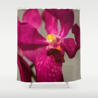 orchid Shower Curtains featuring Orchid by Michelle McConnell
