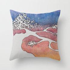 Bonsai Watercolor Throw Pillow