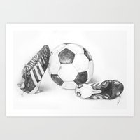 football Art Prints featuring Football by Dianadia