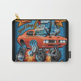 Classic Sixties Muscle Car Parts & Service Cartoon Carry-All Pouch