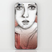 sleeping beauty iPhone & iPod Skins featuring Sleeping Beauty by Kayleigh Day