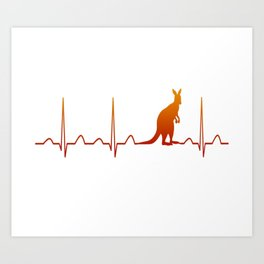 AUSTRALIA IN MY HEARTBEAT Art Print