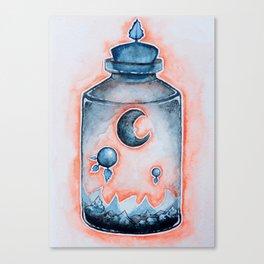 Sunset Moon Terrarium  Canvas Print
