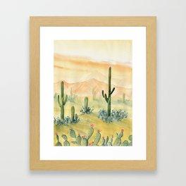 Desert Sunset Landscape Framed Art Print
