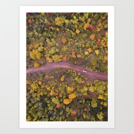 Upper Peninsula Backroads | Copper Harbor, Michigan | John Hill Photography Art Print