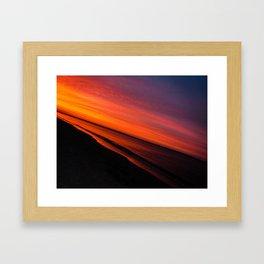 Violent Orange Framed Art Print