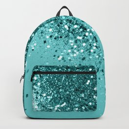 Tropical Blue Ocean Lady Glitter #1 #shiny #decor #art #society6 Backpack