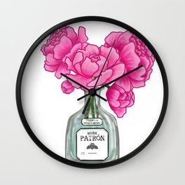 Lovely In Pink Wall Clock