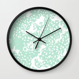Dot pattern mint abstract minimal painting dorm college office gifts decor Wall Clock