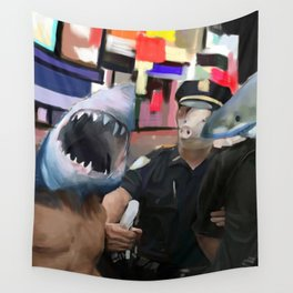 COPS AND ROBBER Wall Tapestry