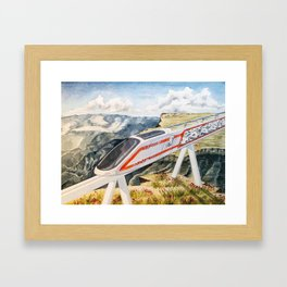 Cairo To Cape Town Train Framed Art Print