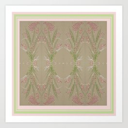Cotton Candy Plant With Border Art Print