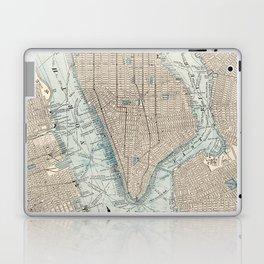 Vintage Map of New York City (1893) Laptop & iPad Skin
