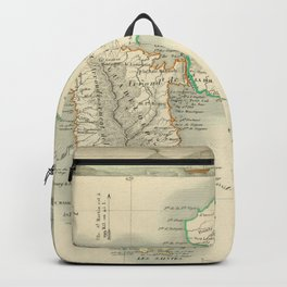Vintage Map of Guadeloupe (1856) Backpack