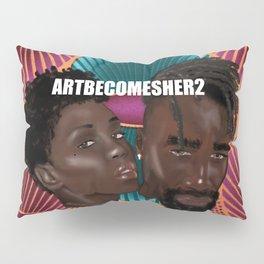 Peach Ankara Couple Pillow Sham