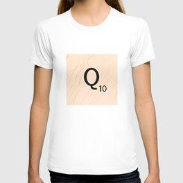 Scrabble Letter Q - Large Scrabble Tiles T-shirt