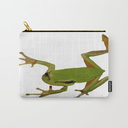 European Green Tree Frog Isolated Carry-All Pouch